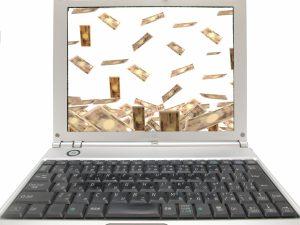 パソコンを使って権利収入